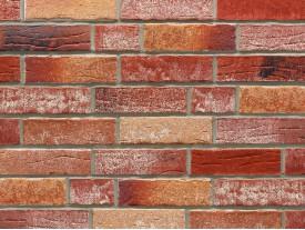 Клинкерная плитка Stroeher для вент. фасадных систем с пропилом и затиркой швов - «372 AMBERBEIGE + 374 SHABBYROT»