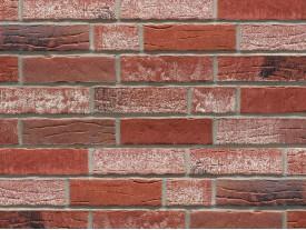 Клинкерная плитка Stroeher для вент. фасадных систем с пропилом и затиркой швов - «374 SHABBYROT»