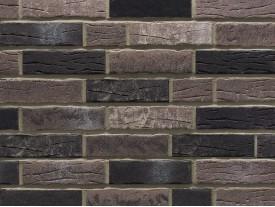Клинкерная плитка Stroeher для вент. фасадных систем с пропилом и затиркой швов - «375 PLATINGRAU + 376 PLATINSCHWARZ»
