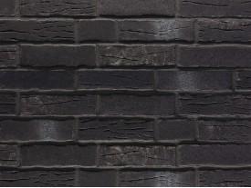 Клинкерная плитка Stroeher для вент. фасадных систем с пропилом и затиркой швов - «376 PLATINSCHWARZ»