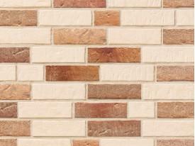 Клинкерная плитка Stroeher для вент. фасадных систем с пропилом и затиркой швов - «351 KALKBRAND + 354 BRONZEBRUCH»