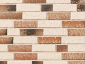 Клинкерная плитка Stroeher для вент. фасадных систем с пропилом и затиркой швов - «351 KALKBRAND + 357 BACKSTEIN»