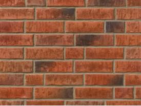 Клинкерная плитка Stroeher для вент. фасадных систем с пропилом и затиркой швов - «353 EISENROST»