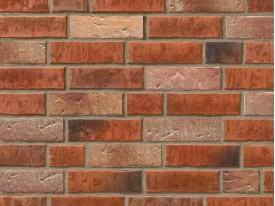 Клинкерная плитка Stroeher для вент. фасадных систем с пропилом и затиркой швов - «353 EISENROST + 354 BRONZEBRUCH»