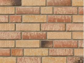 Клинкерная плитка Stroeher для вент. фасадных систем с пропилом и затиркой швов - «355 SANDSCHMELZ + 357 BACKSTEIN»