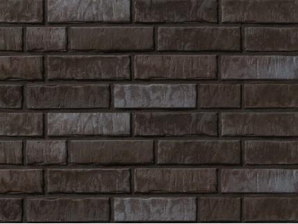 Клинкерная плитка Stroeher для вент. фасадных систем с пропилом и затиркой швов - «359 KOHLEGLANZ»